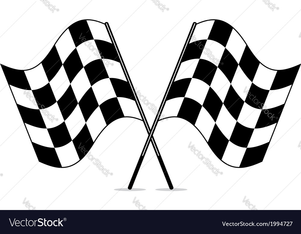 Racing checkered flags