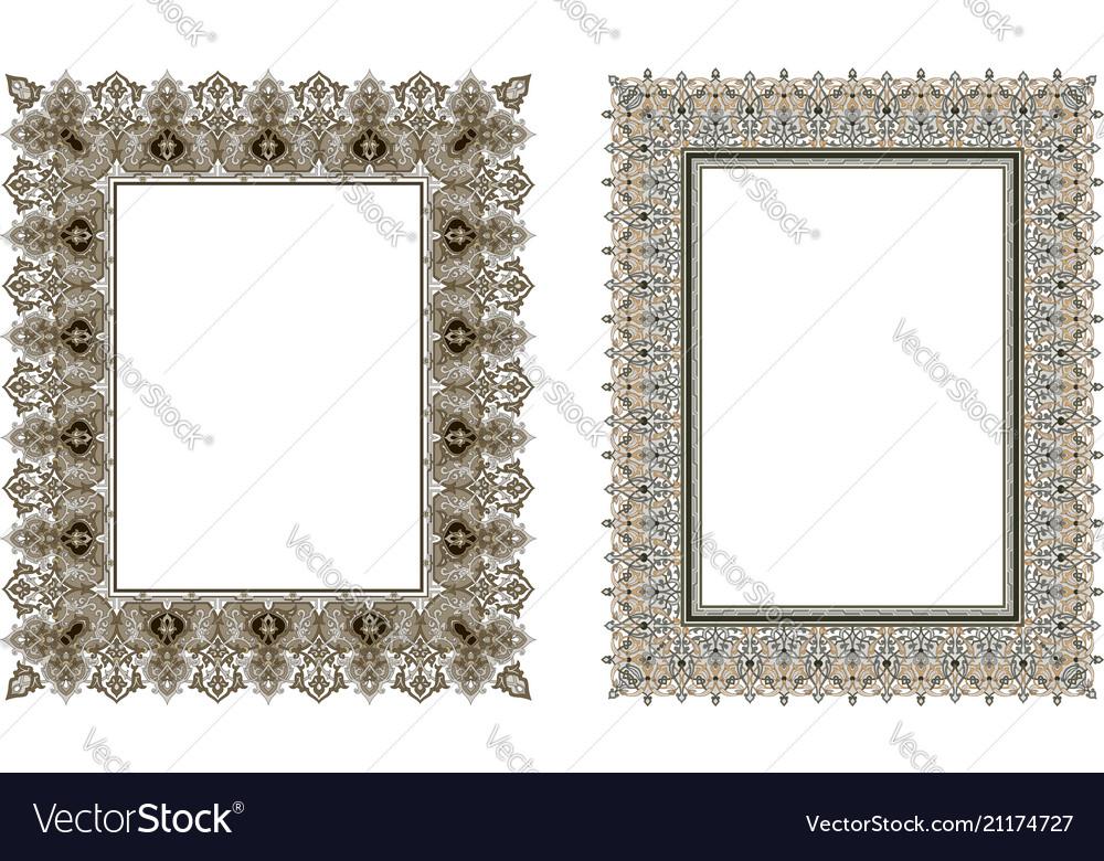 Square elegant frame Royalty Free Vector Image