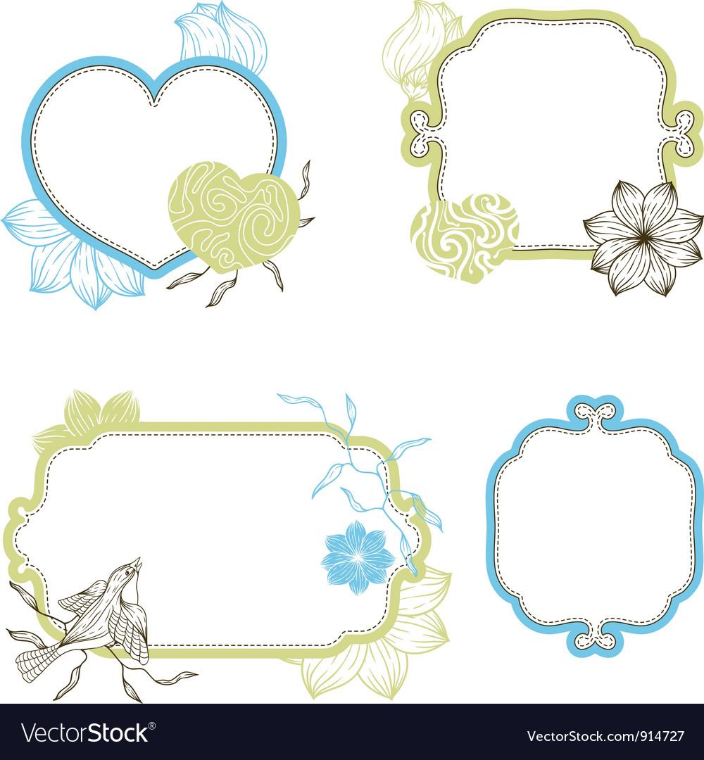 Stylish floral background hand drawn retro flowers
