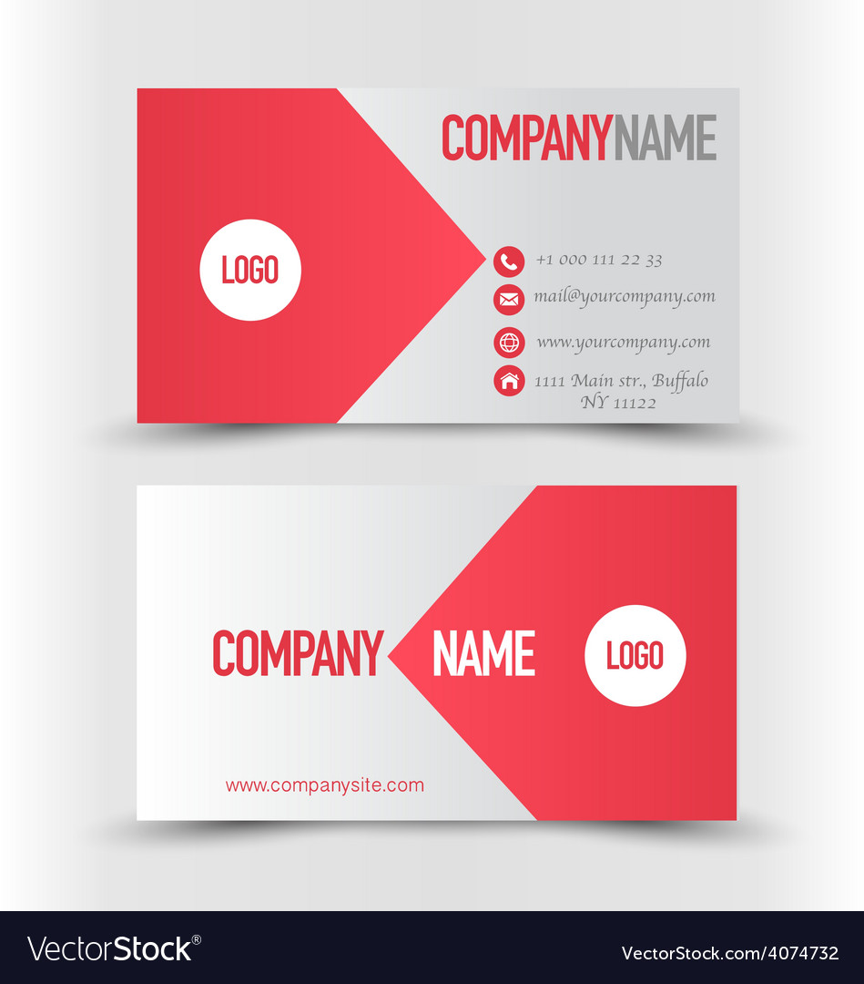 Business card design set template for company vector image reheart Gallery