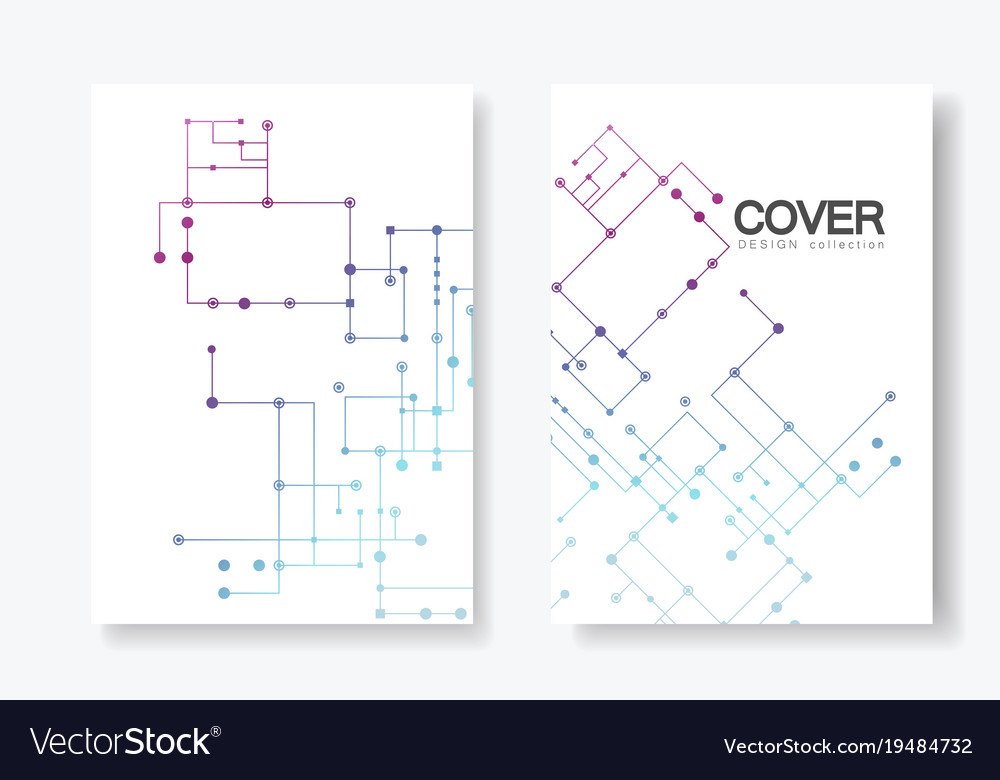 Circuit line background connected dots and lines Vector Image