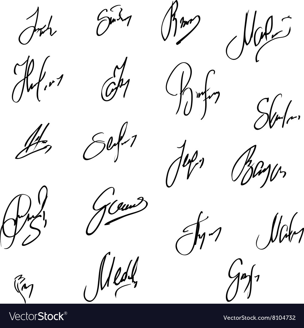 Collection of signatures fictitious