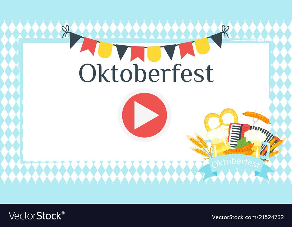 Octoberfest greeting card