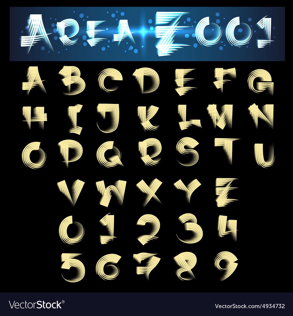 Scroll Brush Alphabet