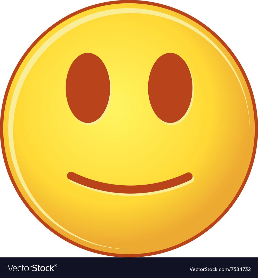 Smiling emoticon of emoji