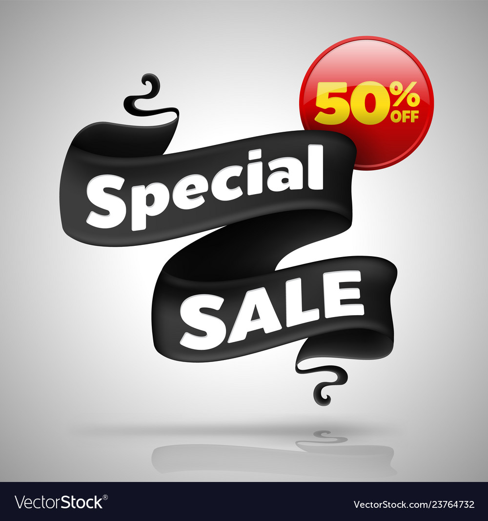 Special sale banner fifty percent off