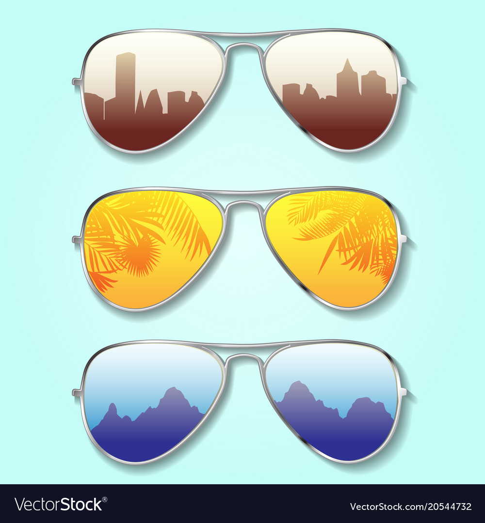 Summer glasses background