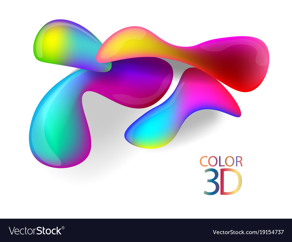 Abstract color 3d cubes with depth effect