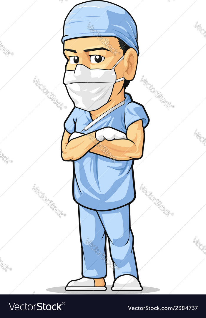 Cartoon of Surgeon vector image