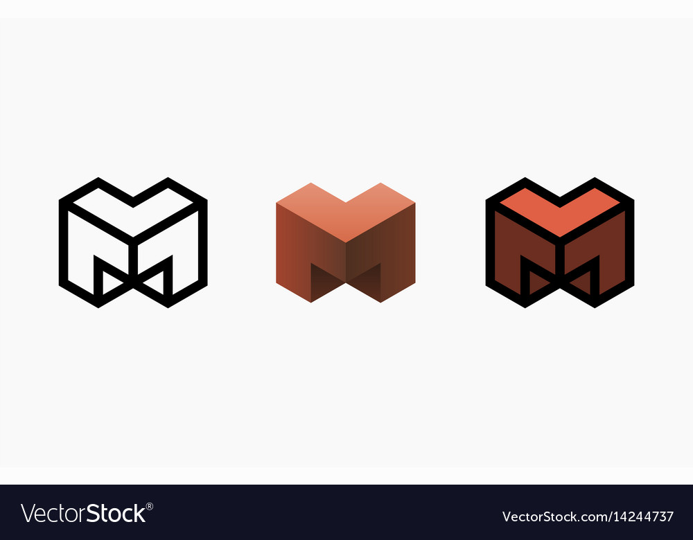 Hexagon logo design creative emblem template