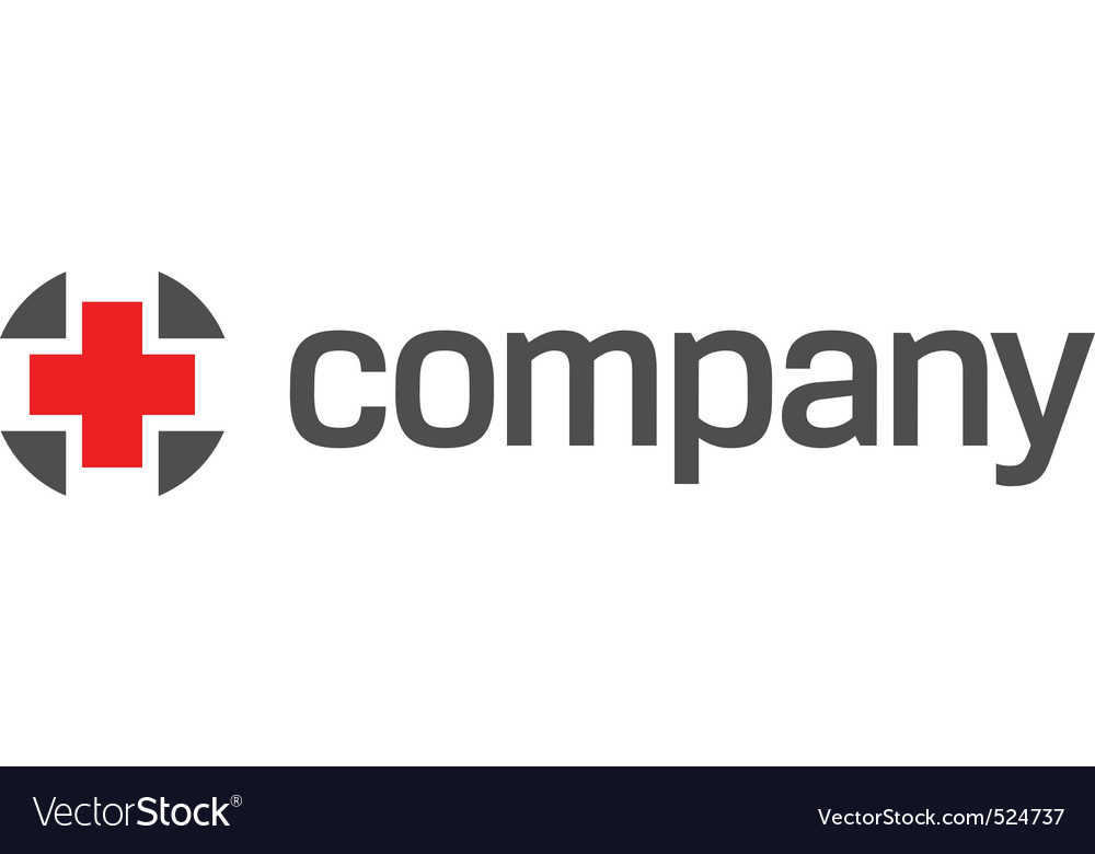 Red cross for healthcare logo vector image