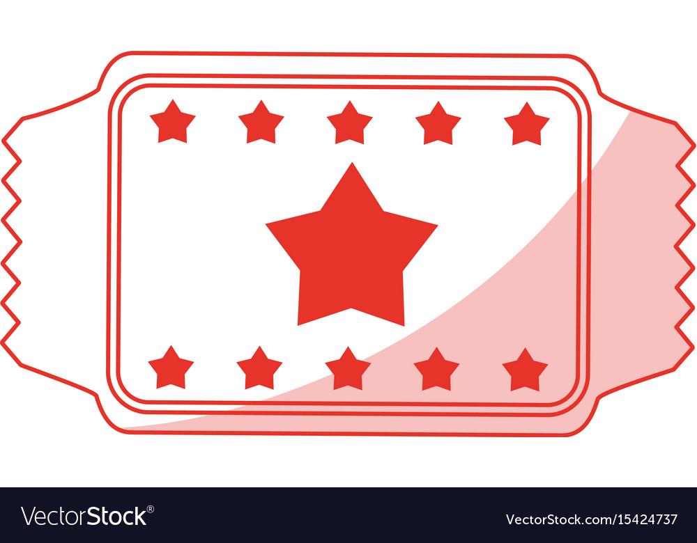 Red ticket design