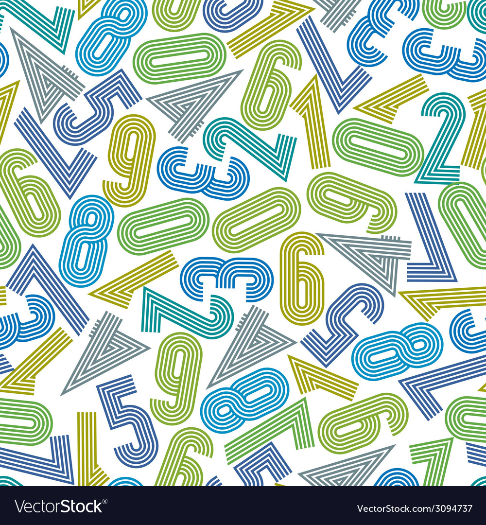 Seamless numbers background seamless pattern