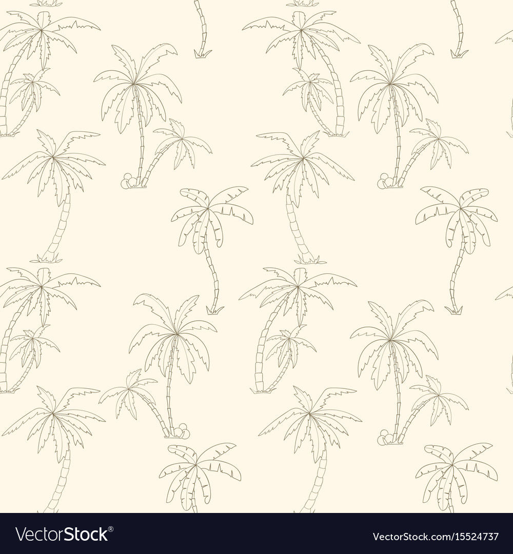 Seamless tropical palms pattern