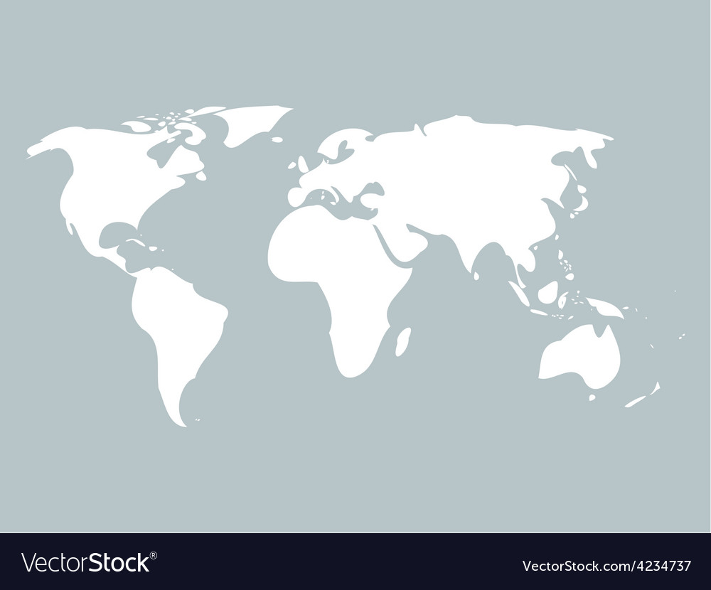 Simplified world map royalty free vector image simplified world map vector image gumiabroncs Images
