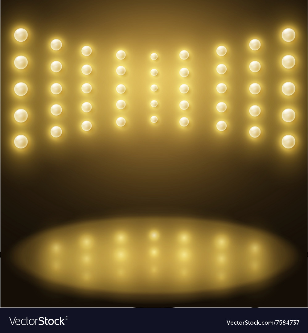 Stage yellow lights Abstract sparkling background