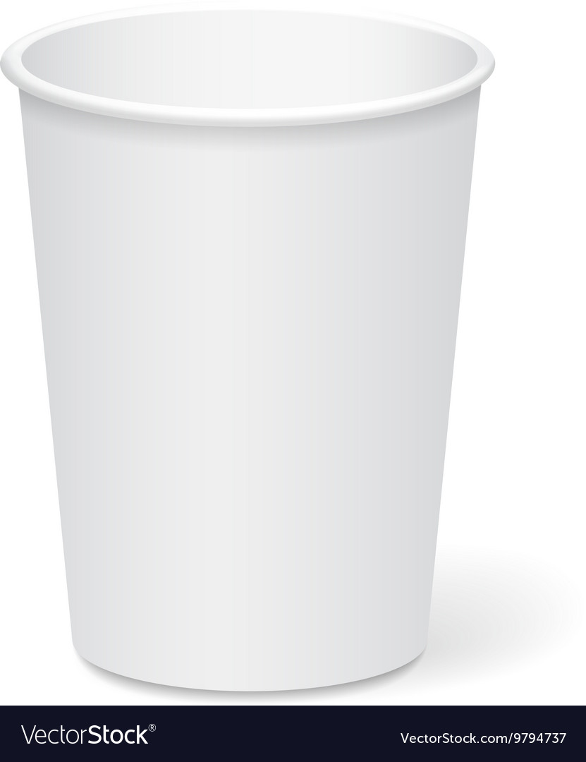 white paper cup template for coffee or tea to take