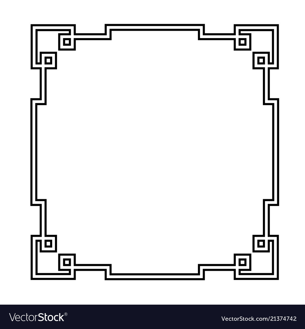 Antique decorative frame in art deco style Vector Image