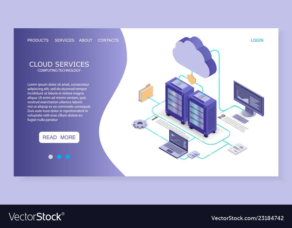 Cloud services landing page website