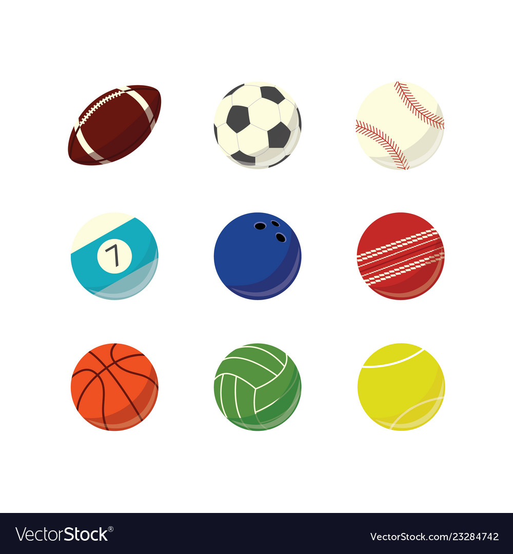 Game sport balls simple icon set