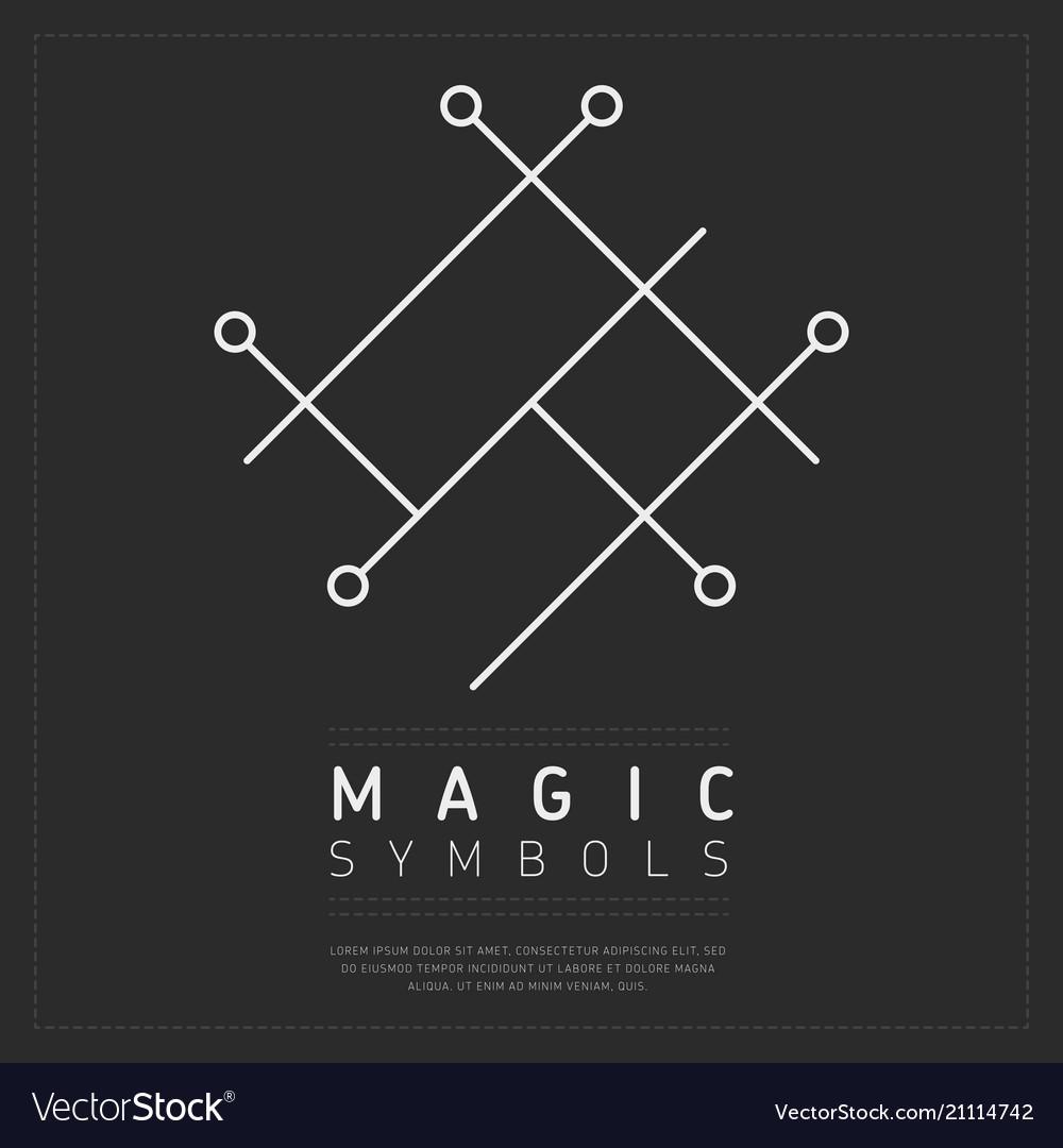 Geometric white magical symbol