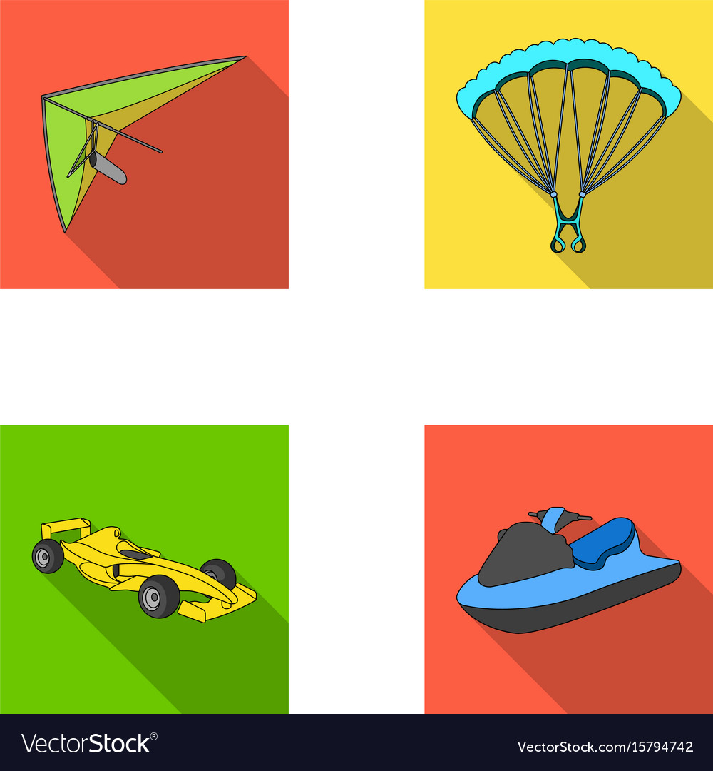 Hang glider parachute racing car water scooter