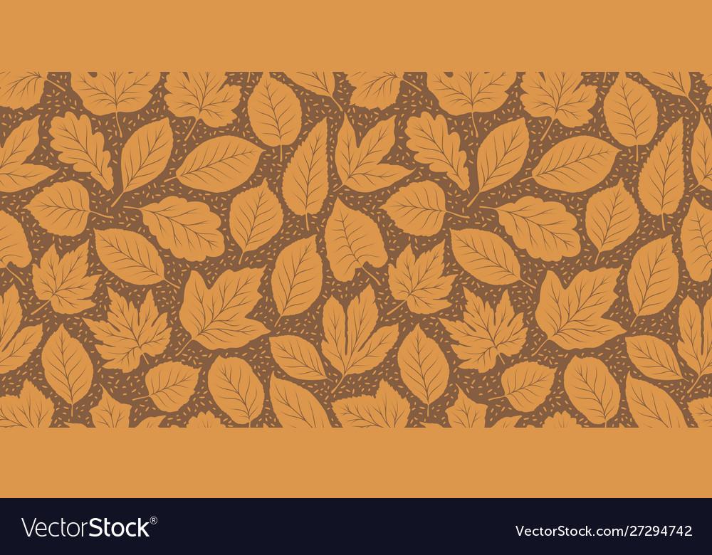 Leaf fall seamless background autumn pattern