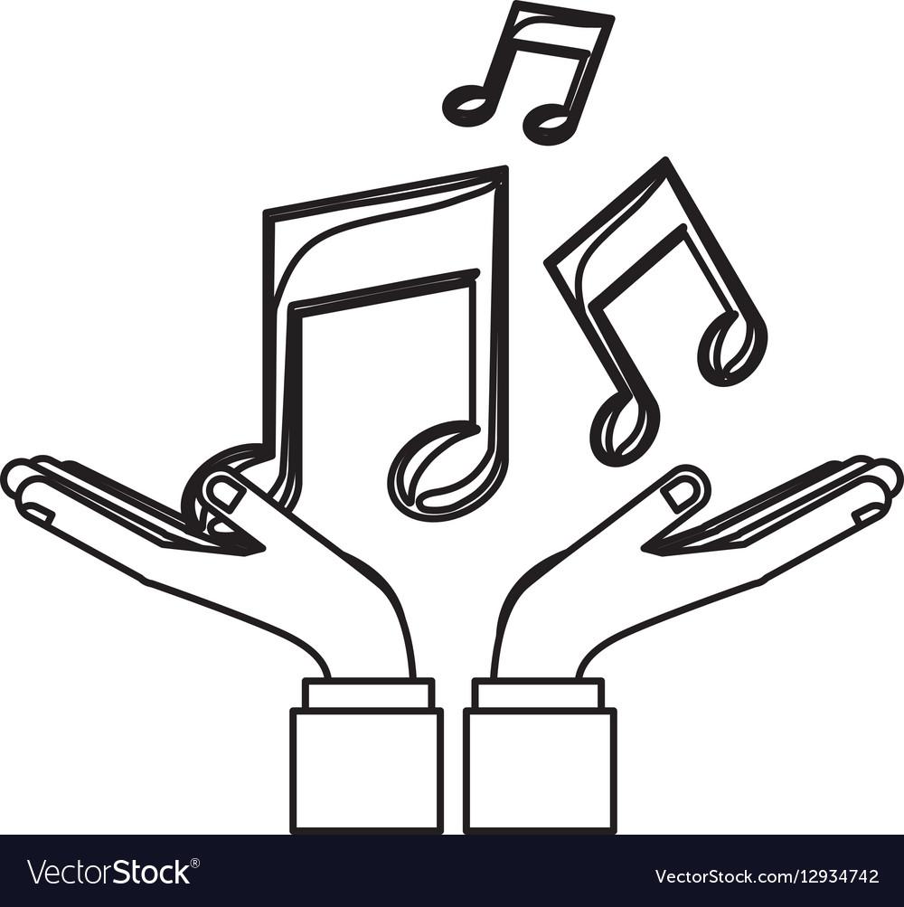 Music Notes Symbols Royalty Free Vector Image Vectorstock