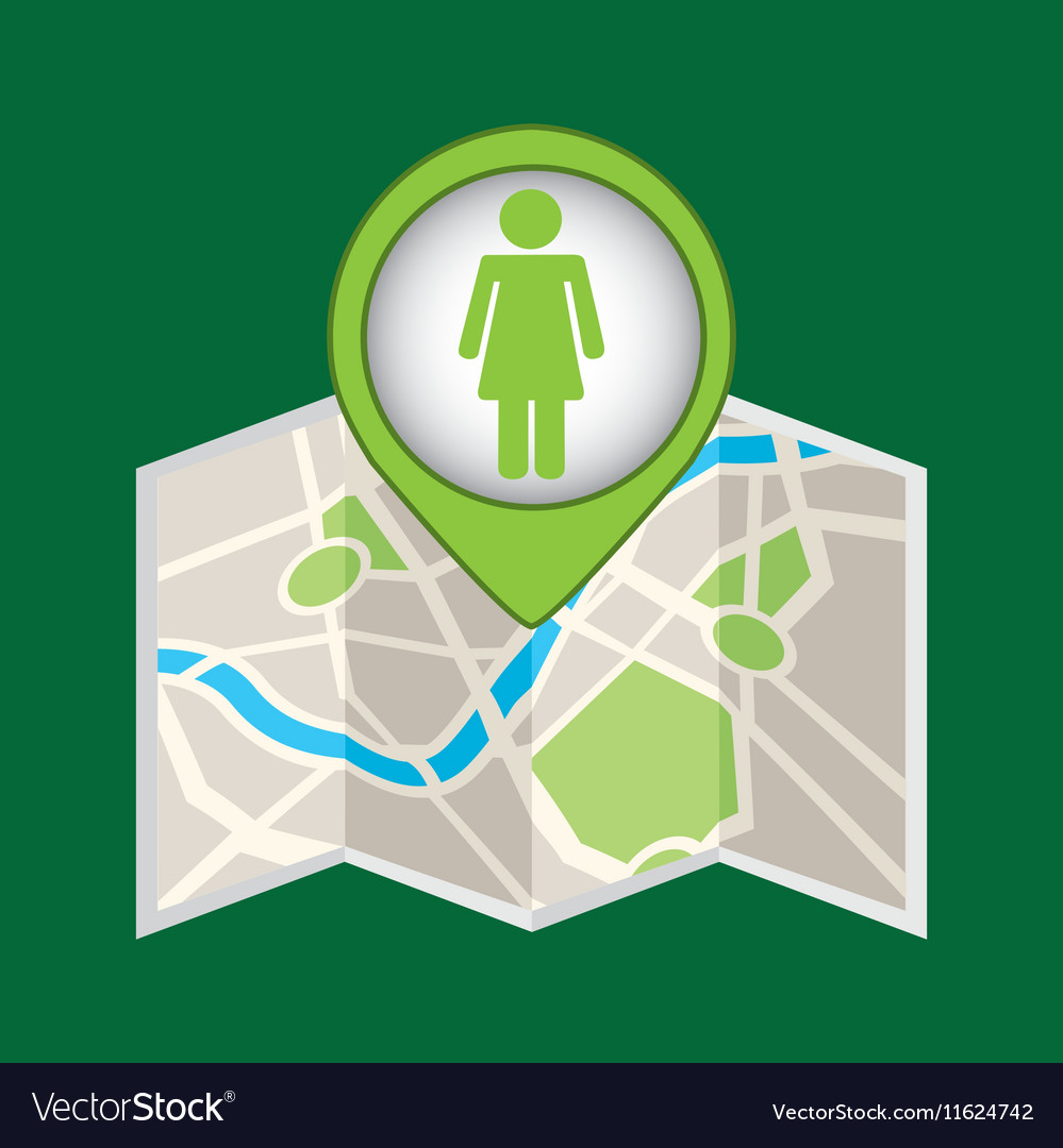 Person recycle pin map icon