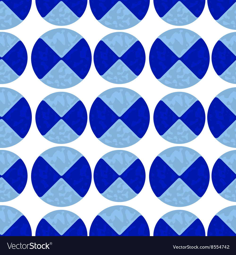 Two-color pattern of blue circles