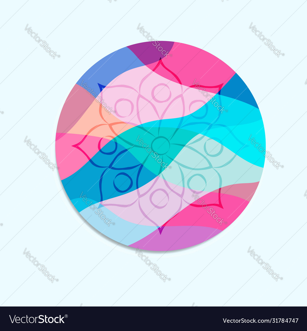 Abstract mandala flower circle concept isolated