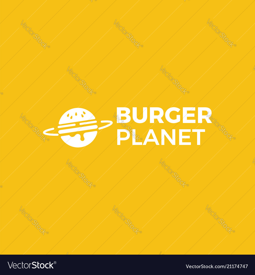 Burger planet delivery service logo