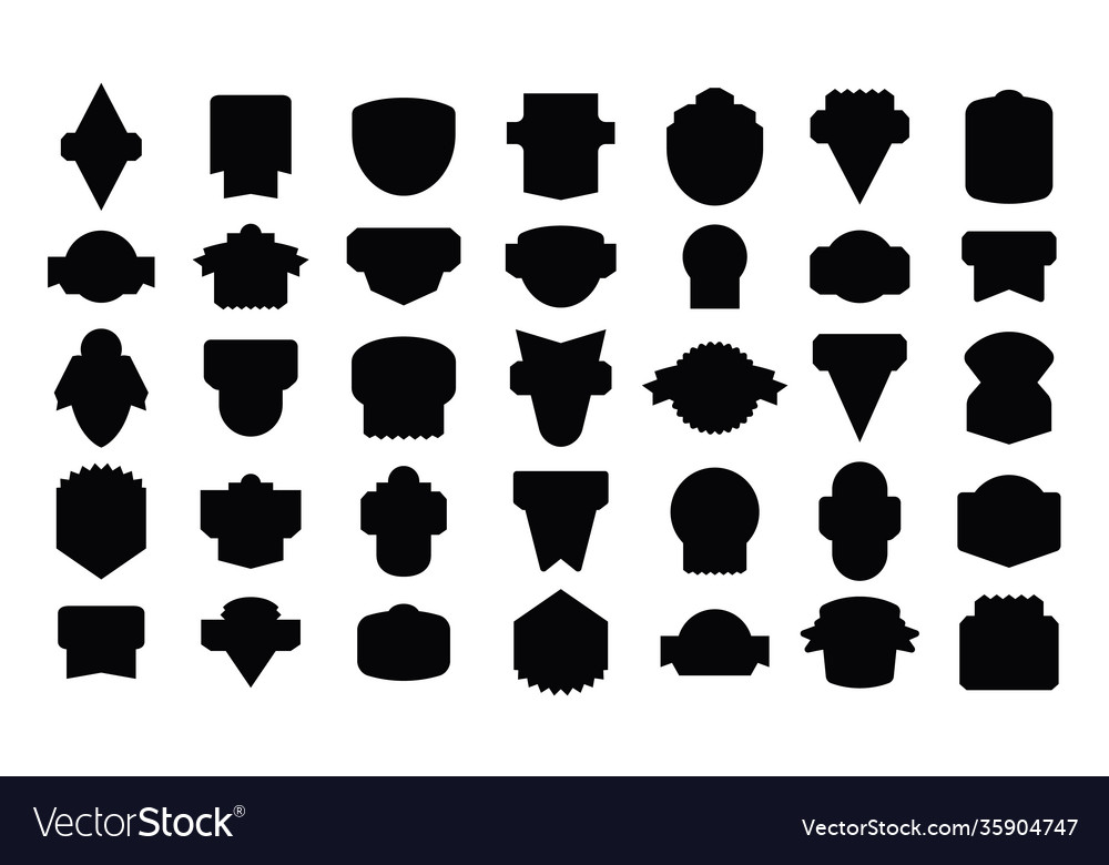 Stock set badges silhouettes