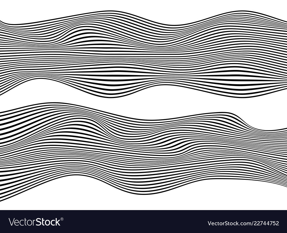 Abstract black wave vibrant optical background