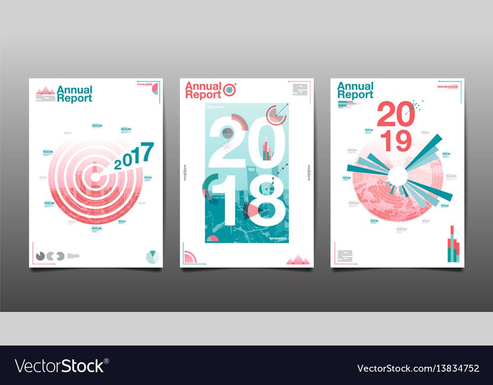 Annual report 201720182019future business vector image
