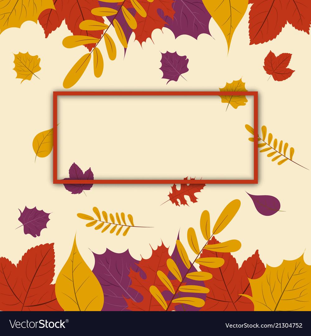 Autumn season fall leaf web banner or poster
