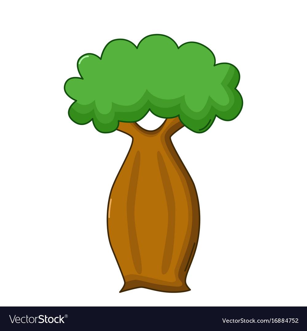 Bottle tree icon cartoon style