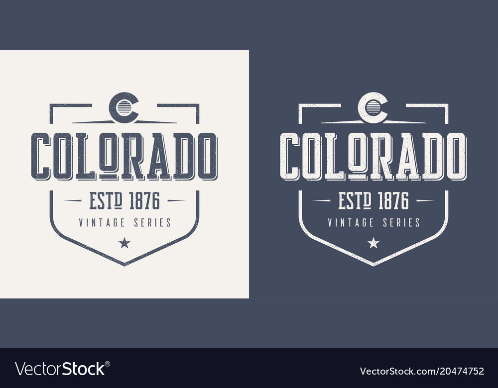 Colorado state textured vintage t-shirt and