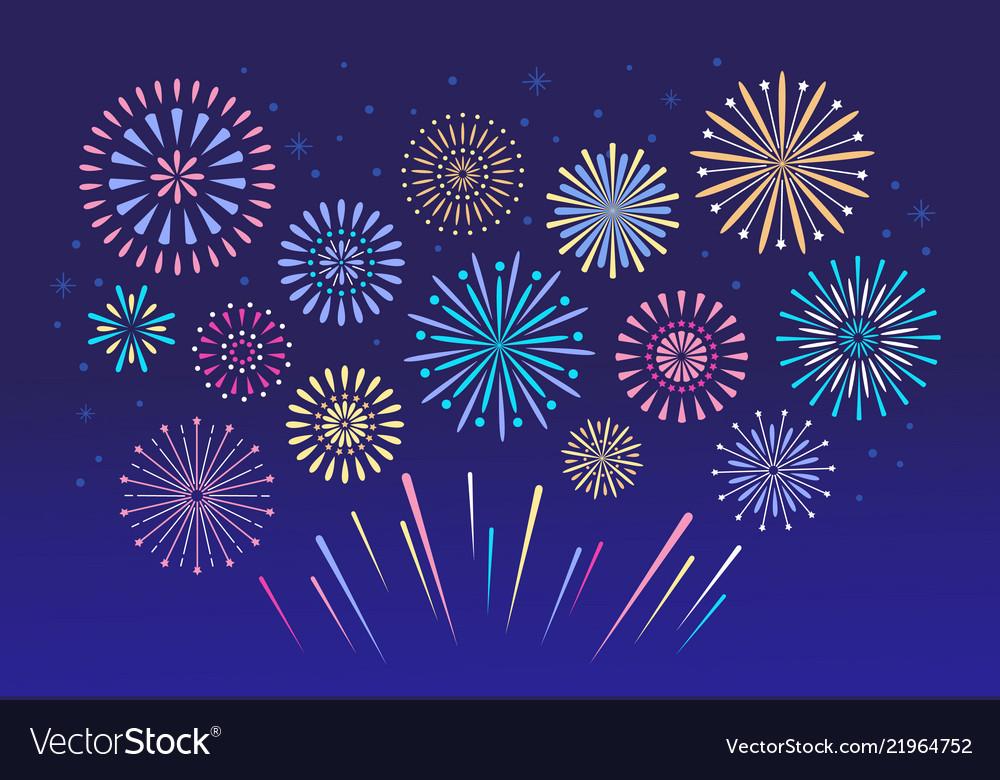 Colorful fireworks celebration fire firework