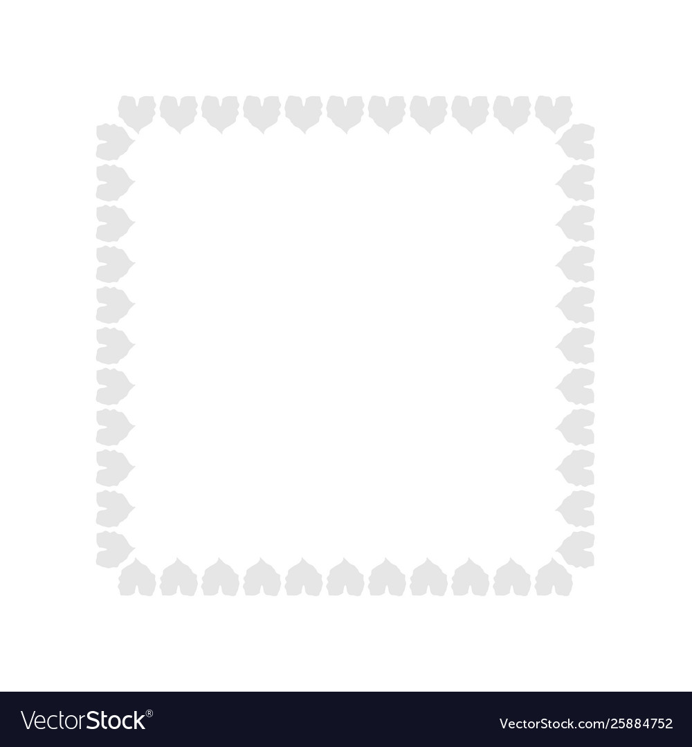 gray leaf border gray nature frame background vector image vectorstock