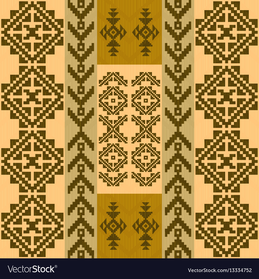 Seamless pattern with traditional native american