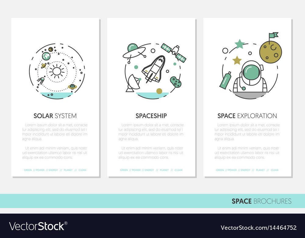 Space research business brochure template Vector Image