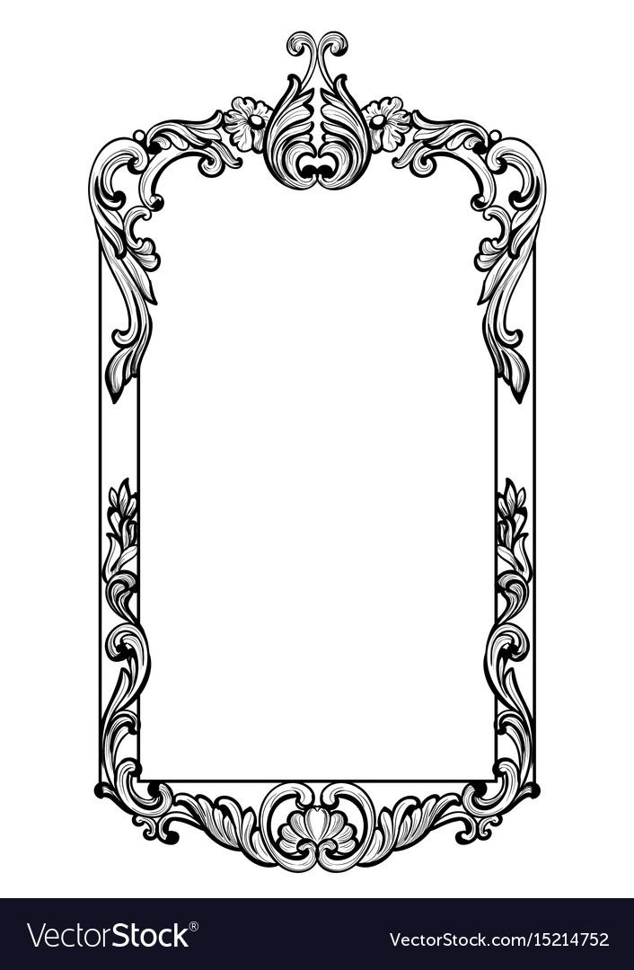 Mirror frame vector Antique Mirror Vintage Imperial Baroque Mirror Frame Vector Image Vectorstock Vintage Imperial Baroque Mirror Frame Royalty Free Vector