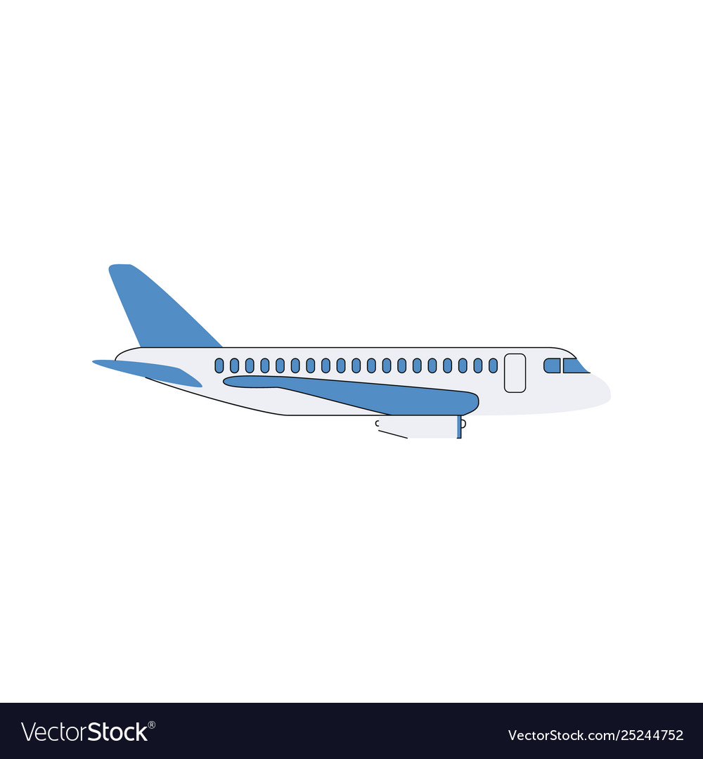 White airplane with blue wings
