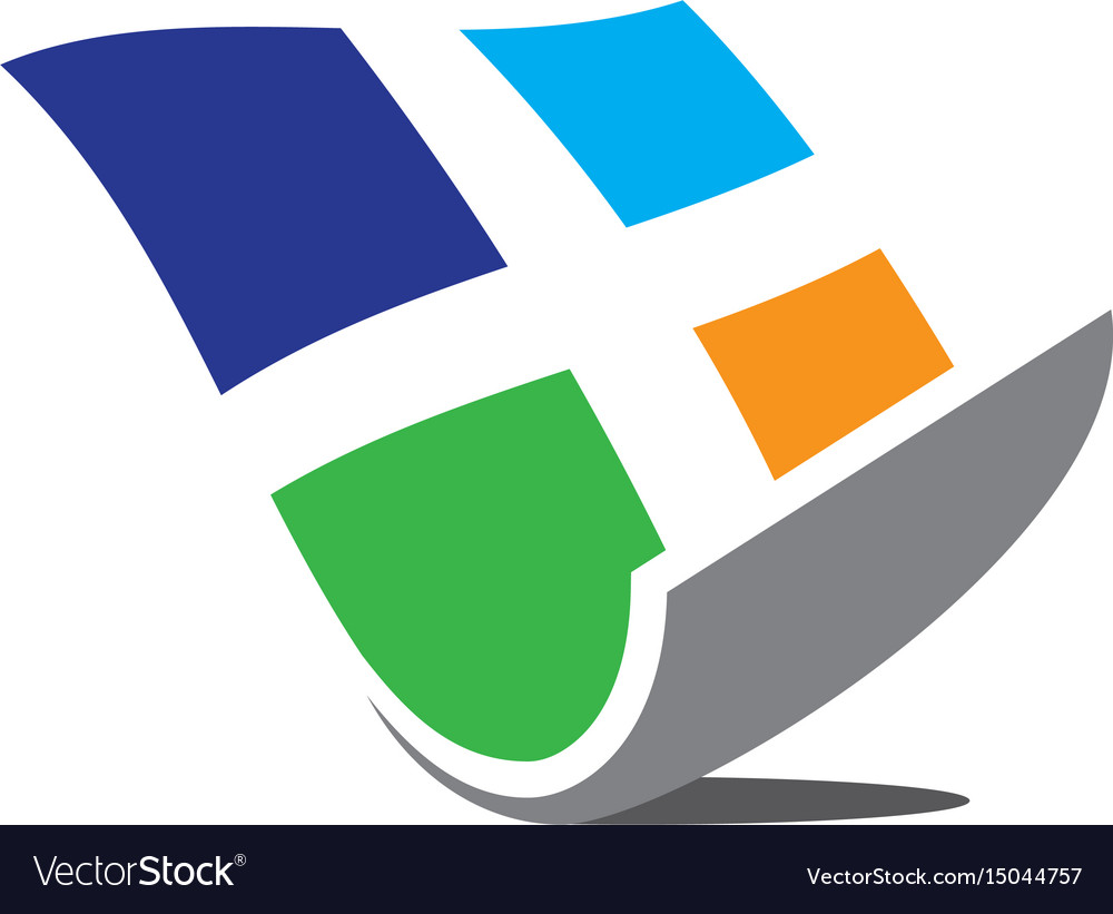 Abstract windows business logo image