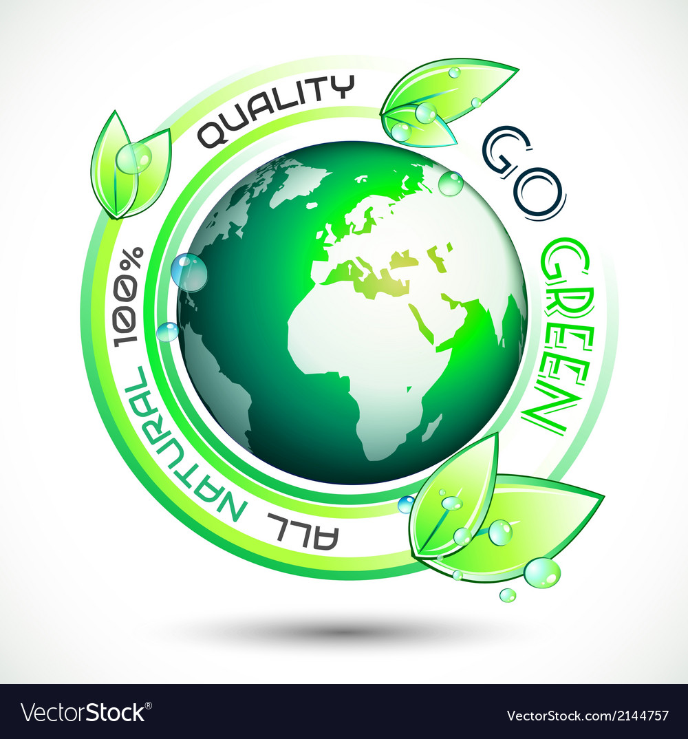 Ecology Green conceptual background with green