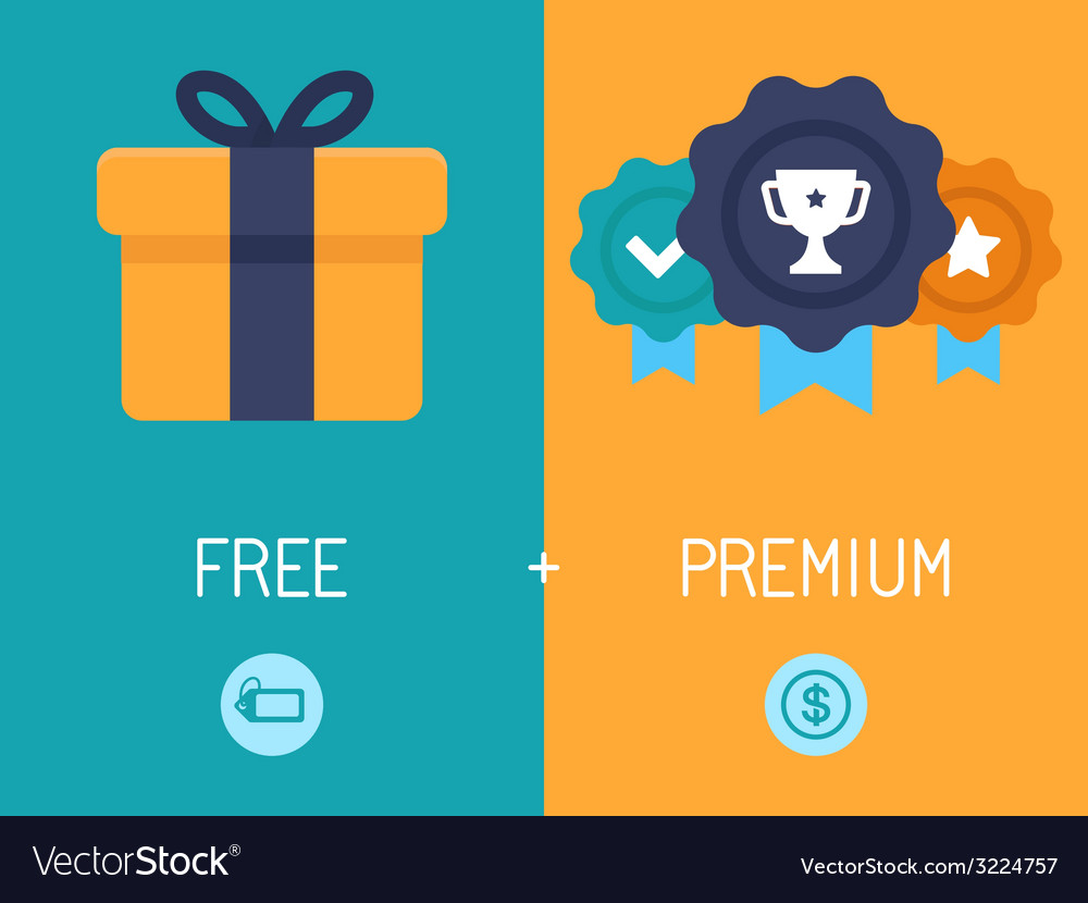Freemium business model royalty free vector image freemium business model vector image accmission Images