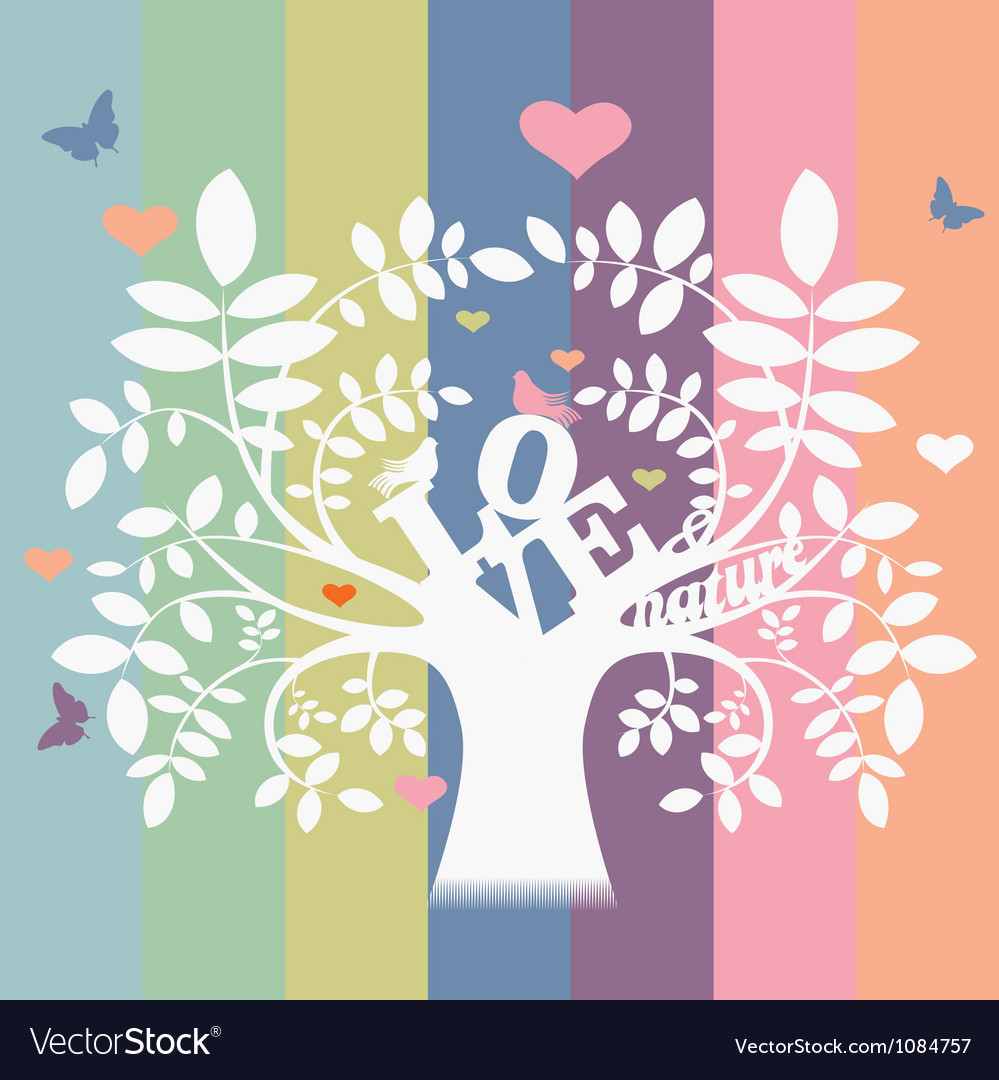 Love and nature tree