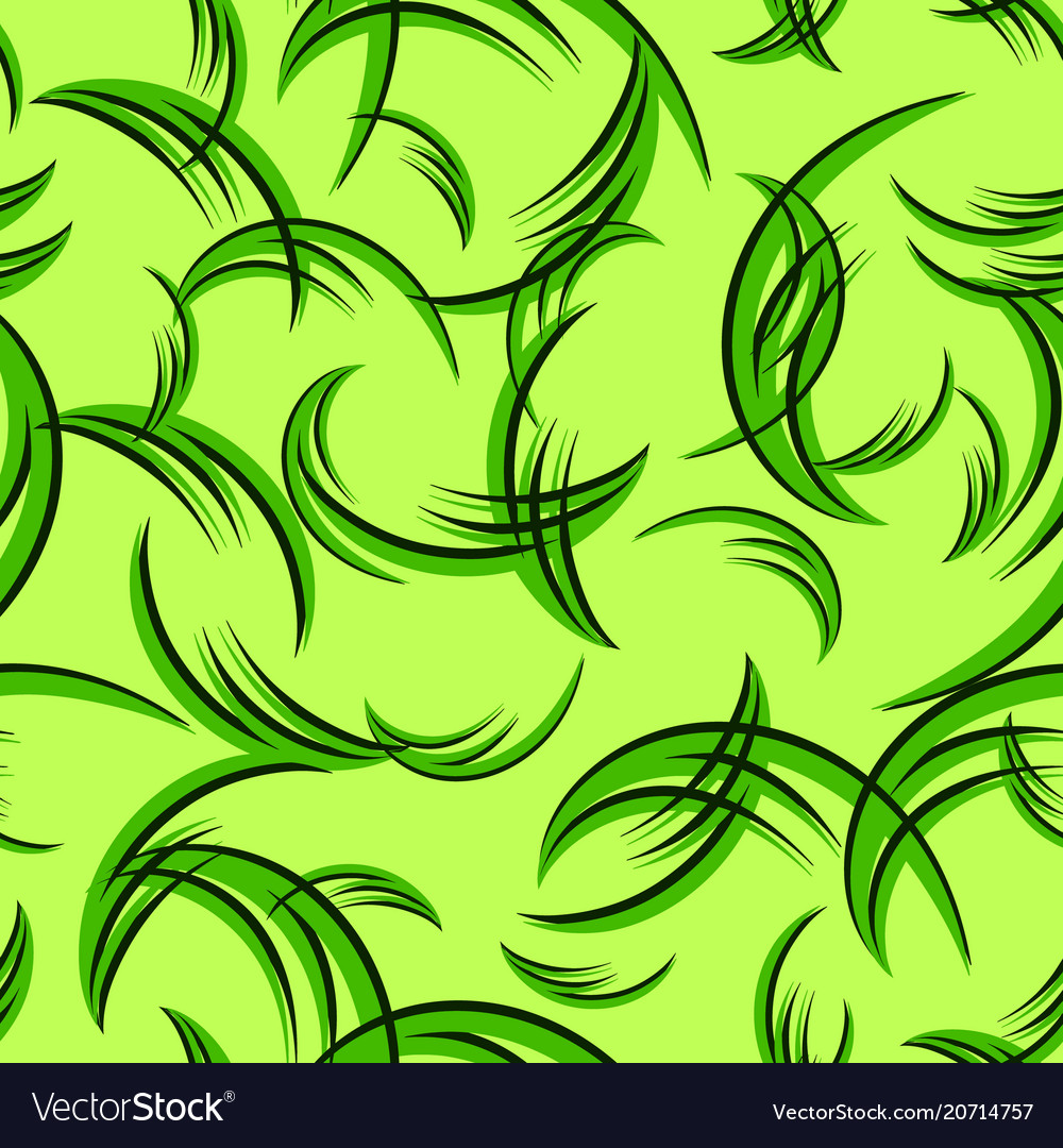 Pattern from green curls for grass