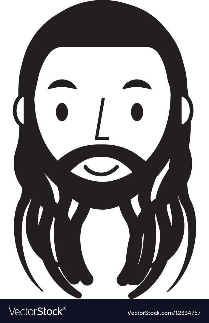 Reggae man character icon